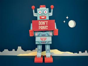 robot en carton pour enfants
